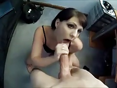 Girl gets strangers cum in her mouth