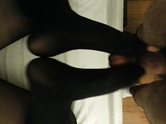 Ex girlriend nylon footjob 2