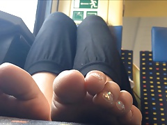 Nice feet on train