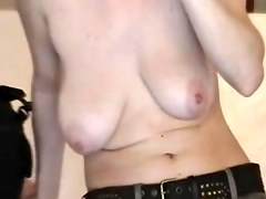 Big juicy tits of this gorgeous MILF are getting fully exposed in this private voyeur solo girl video and they look extremely arousing and appealing.