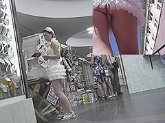 U will hardly be able to meet such a delicious legal age teenager dilettante in a cute white petticoat as this bimbo that was caught on the voyeur cam