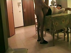 fuck in the living room on the table pt2
