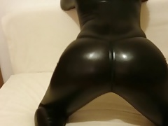 latex catsuit ass move