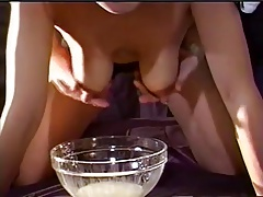 Amateur Milking the nipples
