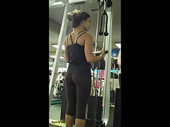 transparent leggings at gym